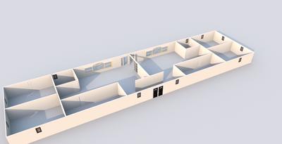 House Design Long Rectangle 20151025b 3d